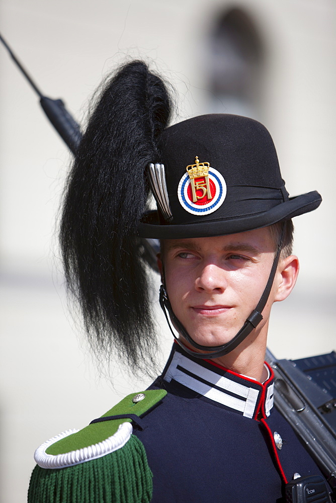 Royal guard, Royal Palace, Oslo, Norway, Scandinavia, Europe