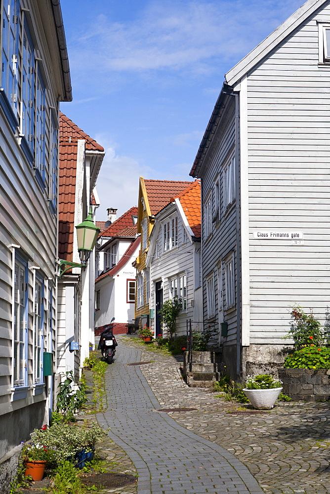 Strandsiden district, Bergen, Hordaland, Norway, Scandinavia, Europe - 793-1122