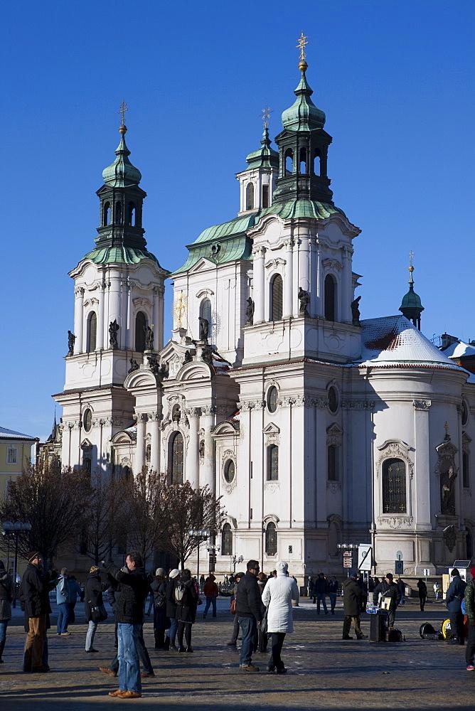 St. Nicholas Church, Old Town Square, Prague, Bohemia, Czech Republic, Europe - 793-1128