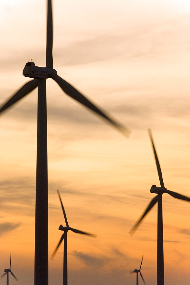 Wind farm, La Muela, Zaragoza, Aragon, Spain, Europe