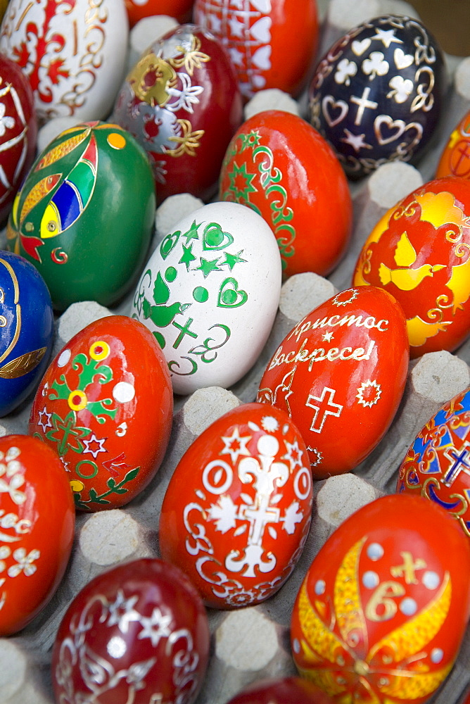 Painted eggs, Sofia, Bulgaria, Europe