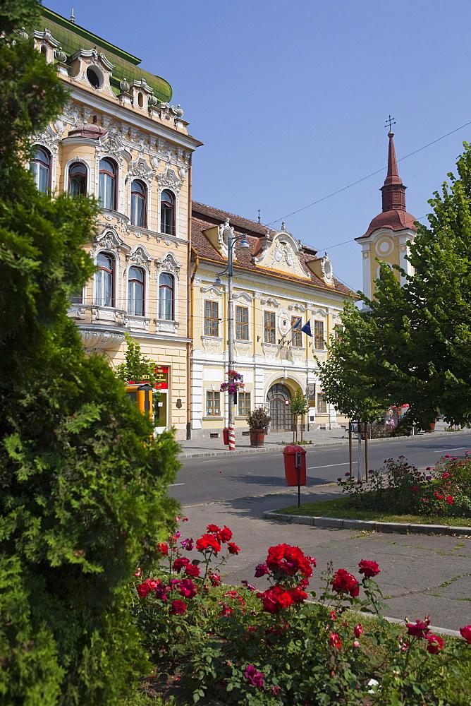 Trandafirilor square, Targu Mures, Transylvania, Romania, Europe
