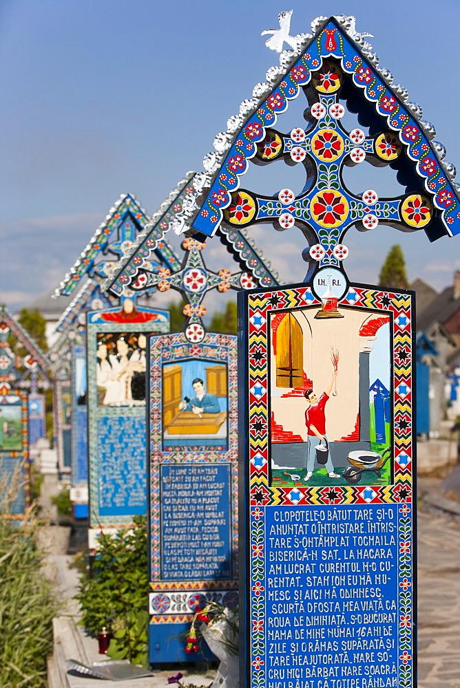 Merry Cemetery, Sapanta, Maramures, Romania, Europe - 793-963