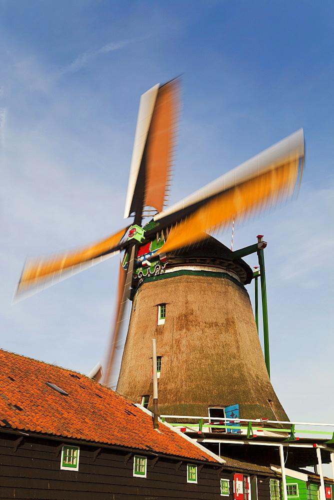 Windmills at Zaanse Schans, Zaandam, Noord Holland, Holland, Europe - 794-1228