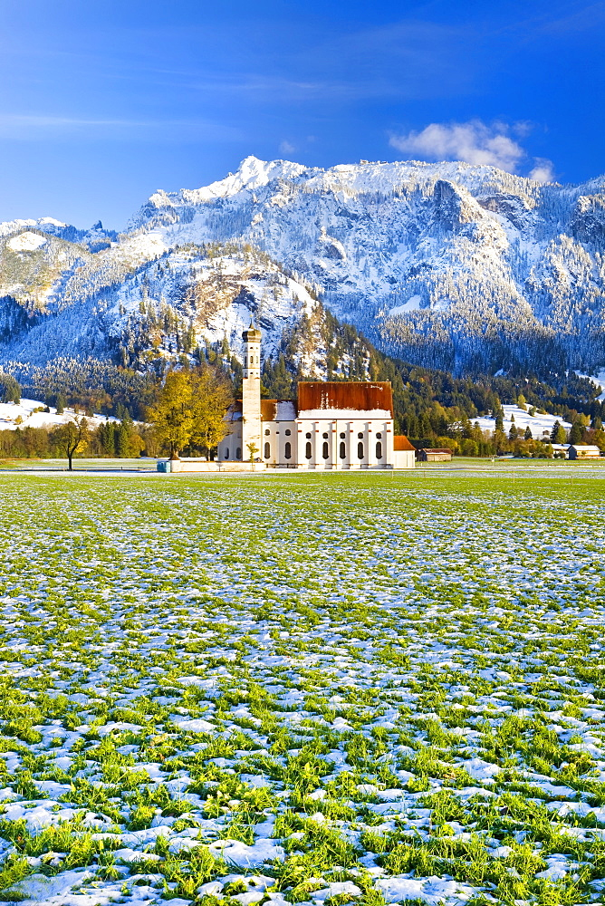 St. Coloman Church, Oberbayern, Bavaria, Germany, Europe - 794-1243