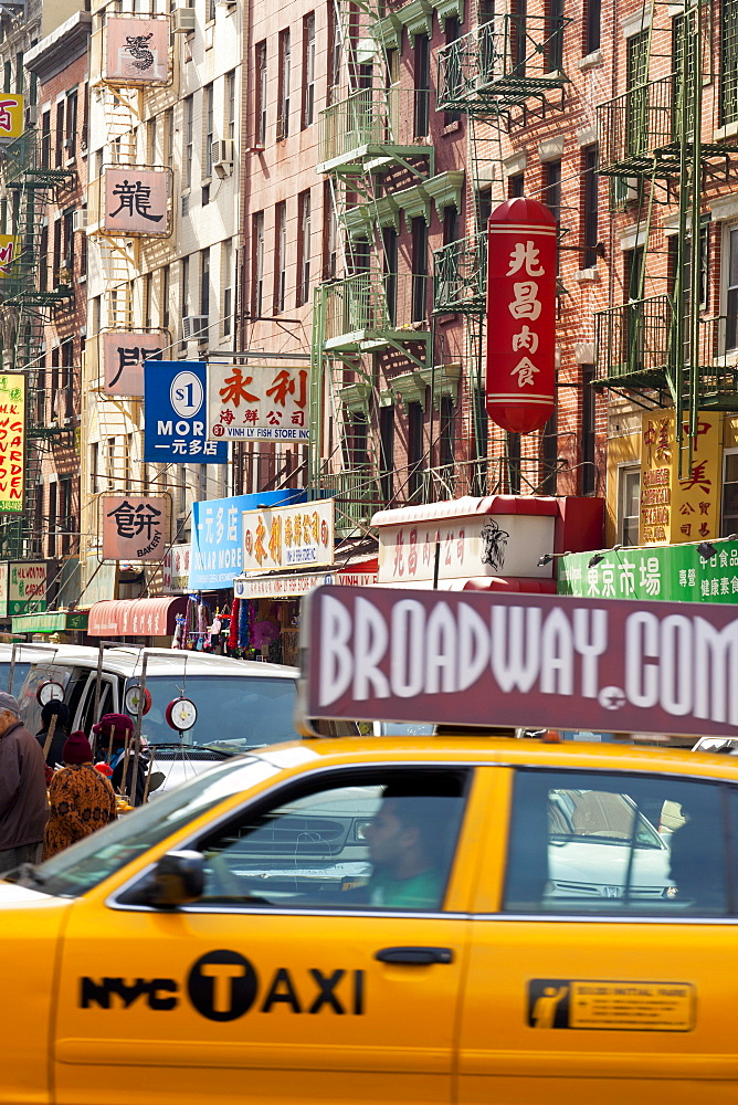 Street scene in China Town, Manhattan, New York City, New York, United States of America, North America - 794-1423