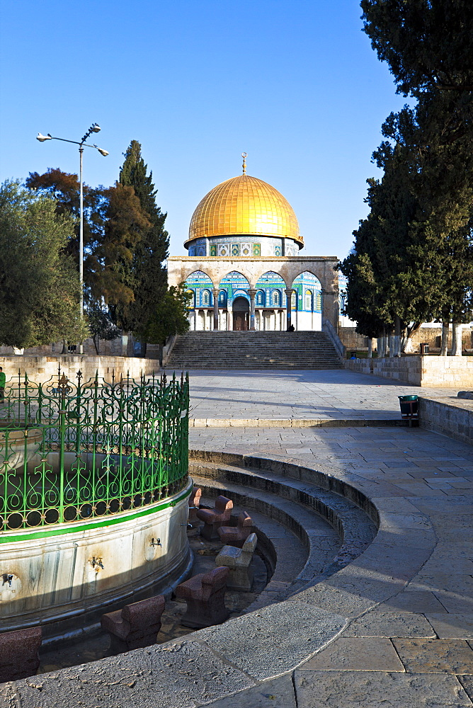 Dome of the Rock and Temple Mount, Old City, UNESCO World Heritage Site, Jerusalem, Israel, Middle East