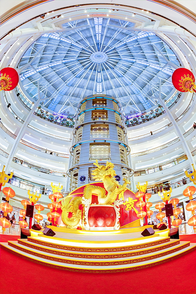 Interior of a modern shopping complex at the foot of the Petronas Towers, Kuala Lumpur, Malaysia, Southeast Asia, Asia