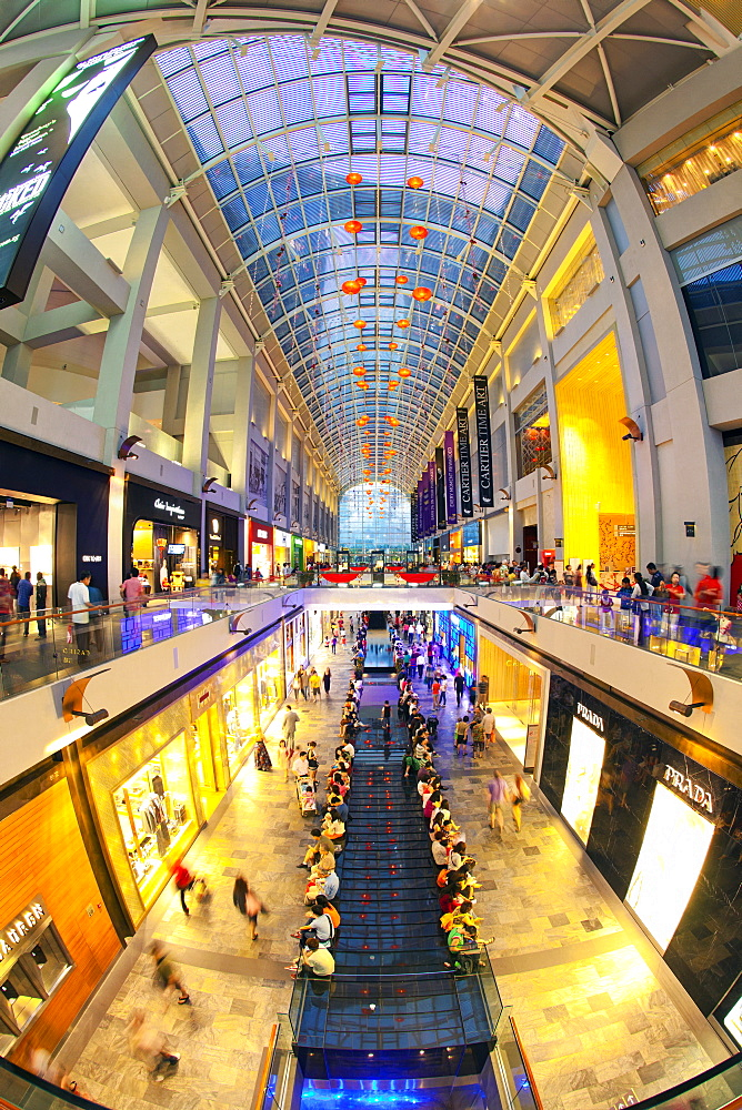 Shopping Mall in the Marina Bay Sands hotel and casino complex, Singapore, Southeast Asia, Asia