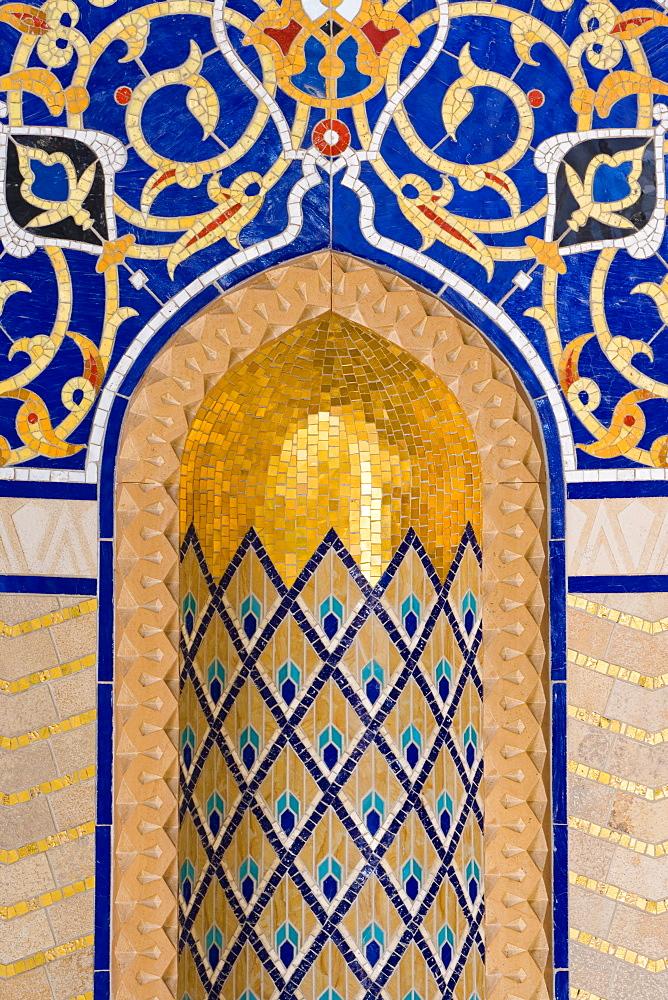 Detail in Al-Ghubrah or Grand Mosque, Muscat, Oman, Middle East - 794-170