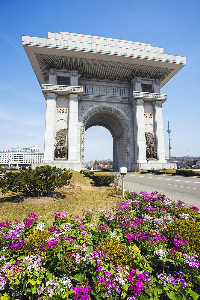Arch of Triumph, Pyongyang, North Korea (Democratic People's Republic of Korea), Asia
