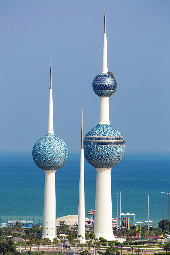 The Kuwait Towers, Kuwait City, Kuwait, Middle East