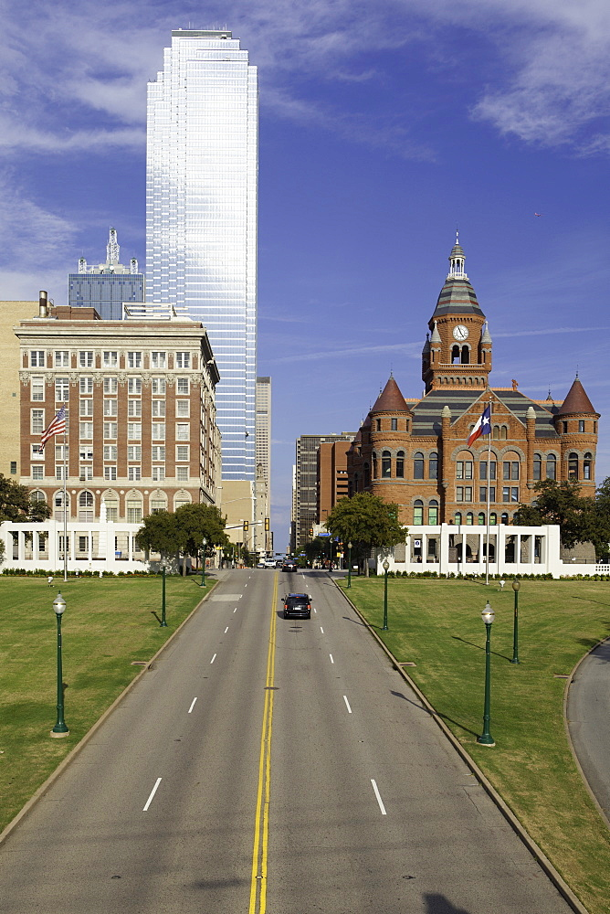 Grassy Knoll, site of Kennedy assassination, Dealey Plaza Historic District, West End, Dallas, Texas, United States of America, North America