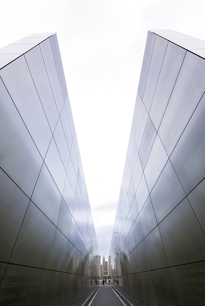 The Empty Sky Memorial to 9/11 victims in Liberty State Park, New Jersey, New York State, United States of America, North America