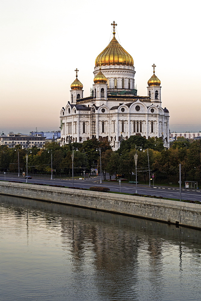 Cathedral of Christ the Saviour and Moskva River, Moscow, Russia, Europe