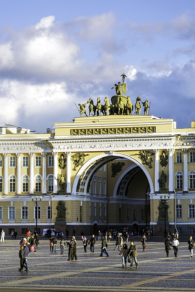 General Staff Building, Hermitage Square, St. Petersburg, Russia, Europe