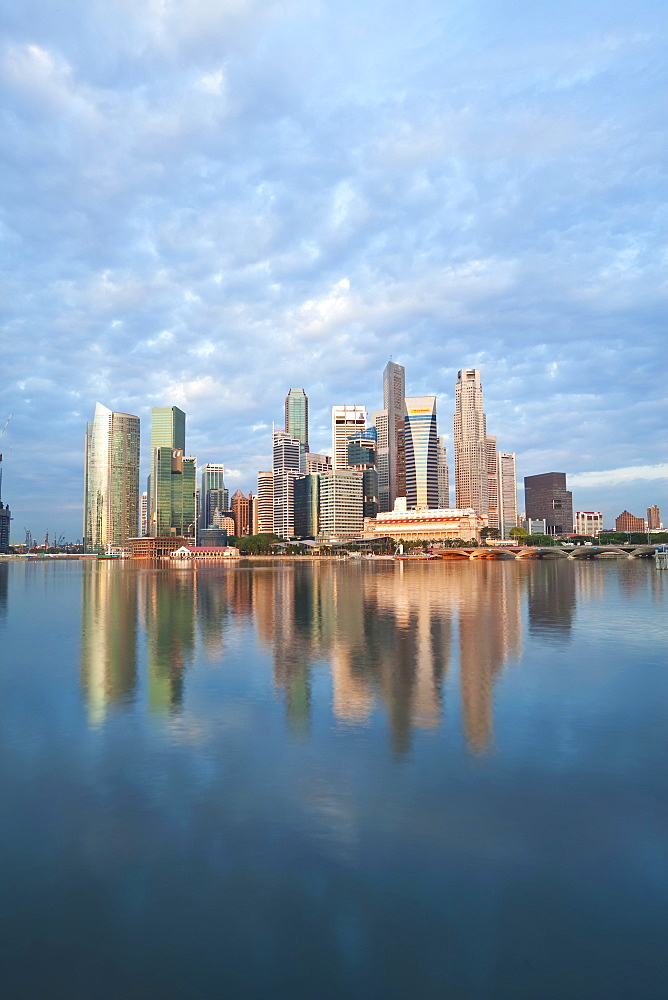 Skyline and Financial district at dawn, Singapore, Southeast Asia, Asia - 794-890