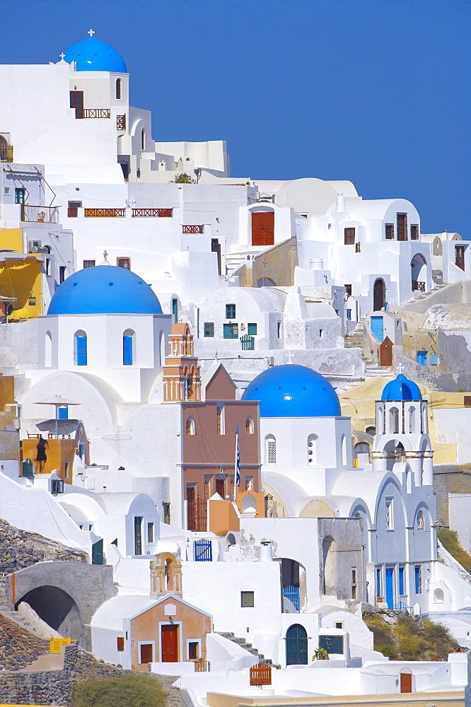 Oia, Santorini, Cyclades, Greek Islands, Greece, Europe - 795-165