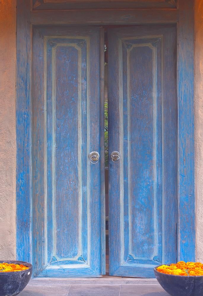 Wooden door, Bali, Indonesia, Southeast Asia, Asia