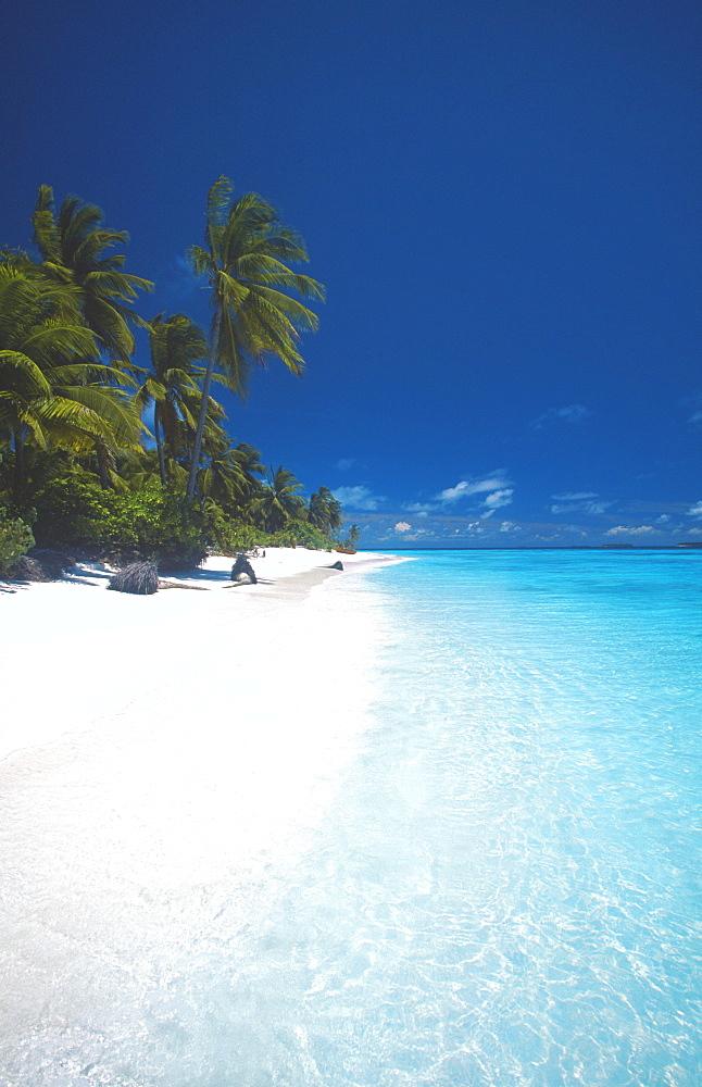 Desert island, Baa atoll, The Maldives, Indian Ocean, Asia