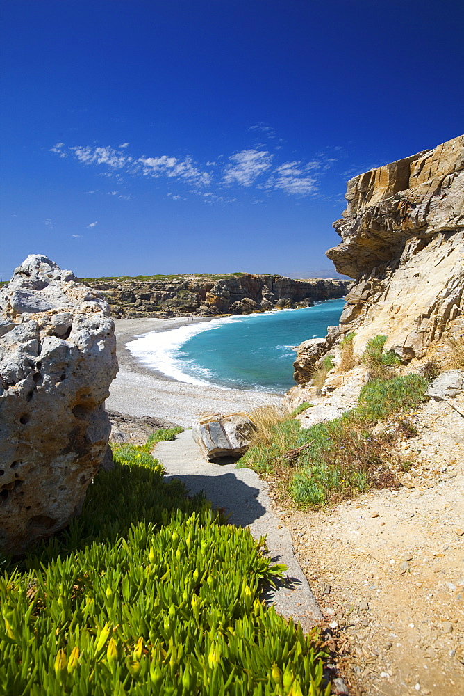 Beach in Rethymno, Crete, Greek Islands, Greece, Europe