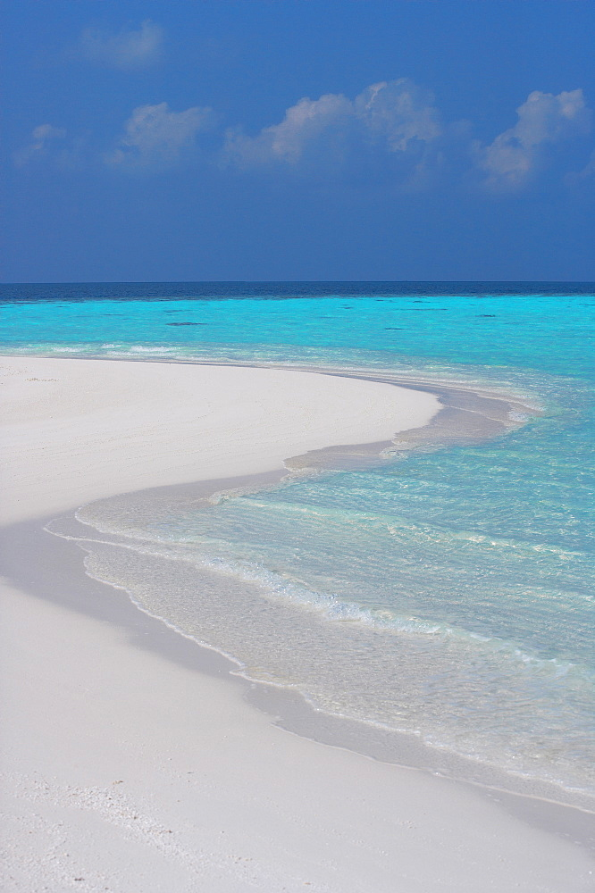 Empty sandy beach, Maldives, Indian Ocean, Asia