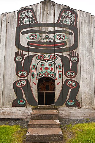 Chief Shakes Tribal House, historic site, Wrangell, Southeast Alaska, United States of America, North America - 796-1270