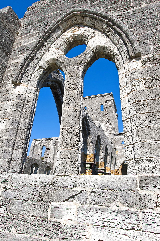 The unfinished church in St. George's, Bermuda, Central America