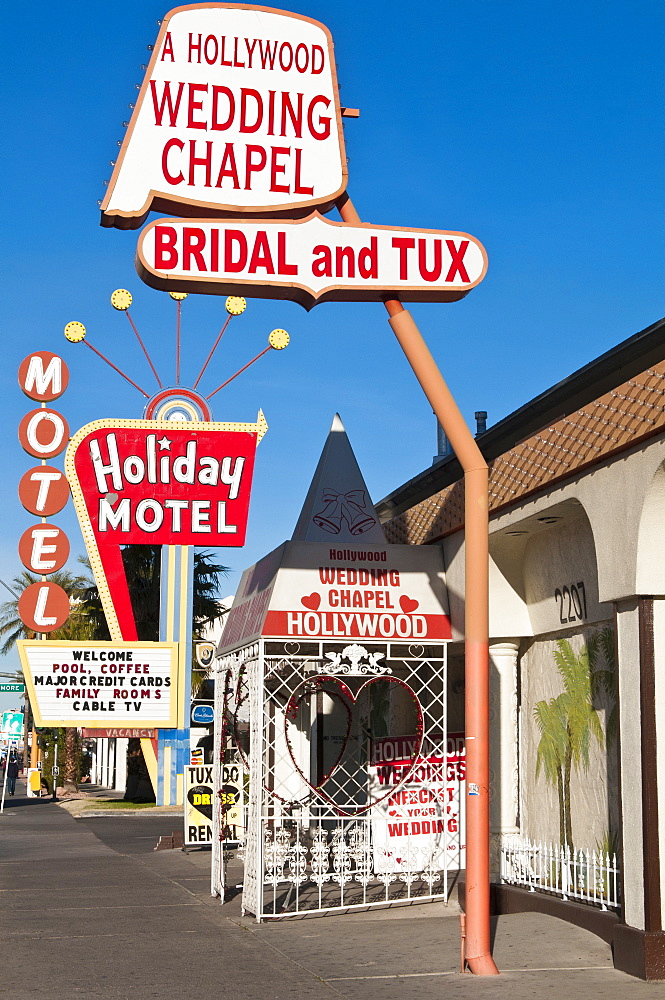 A Hollywood Wedding Chapel, Las Vegas, Nevada, United States of America, North America