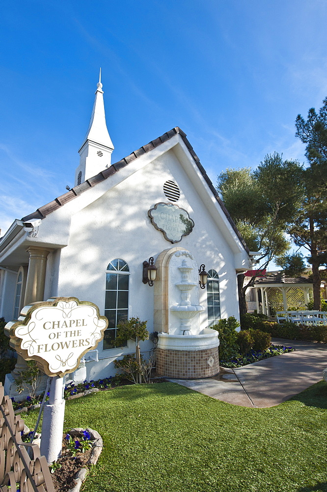 Chapel of the Flowers wedding chapel, Las Vegas, Nevada, United States of America, North America