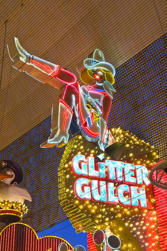 Glitter Gulch Casino and Fremont Street Experience, Las Vegas, Nevada, United States of America, North America