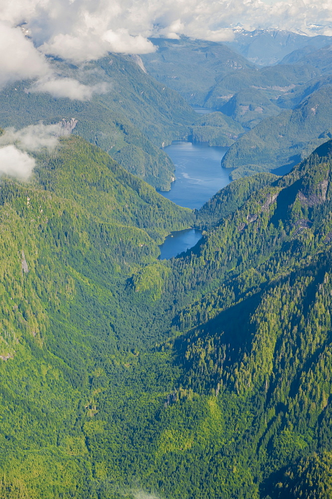 Coastal scenery in Great Bear Rainforest, British Columbia, Canada, North America  - 796-1869