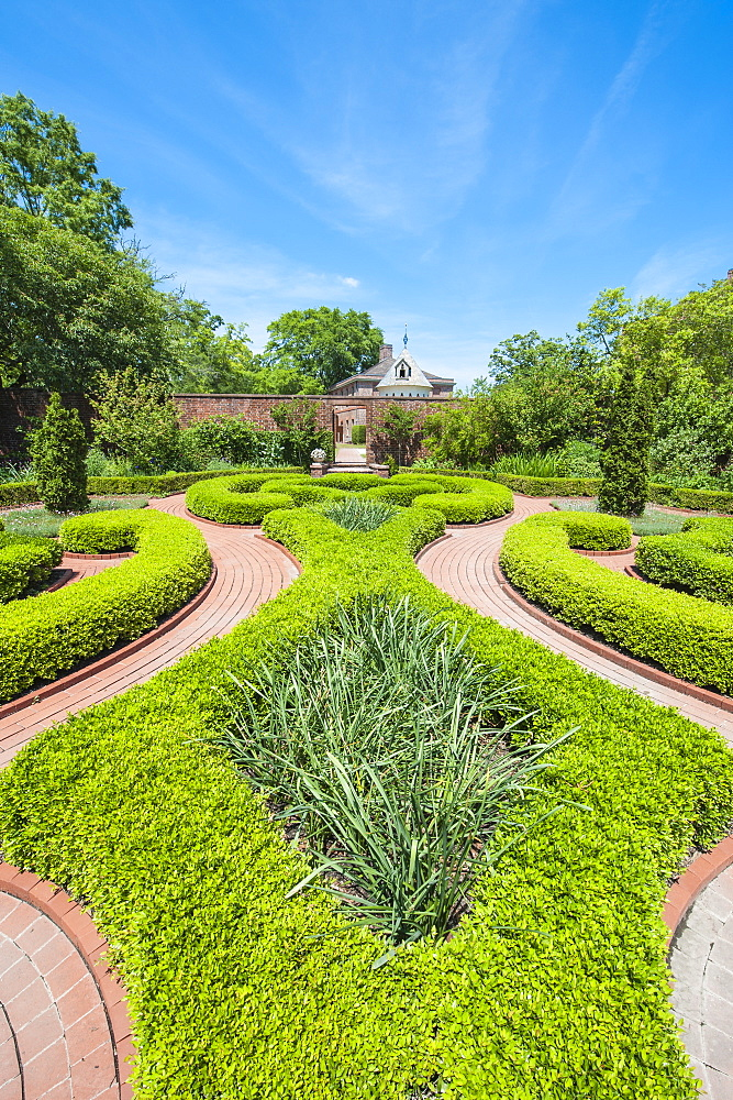 Gardens at the Tryon Palace, New Bern, North Carolina, United States of America, North America