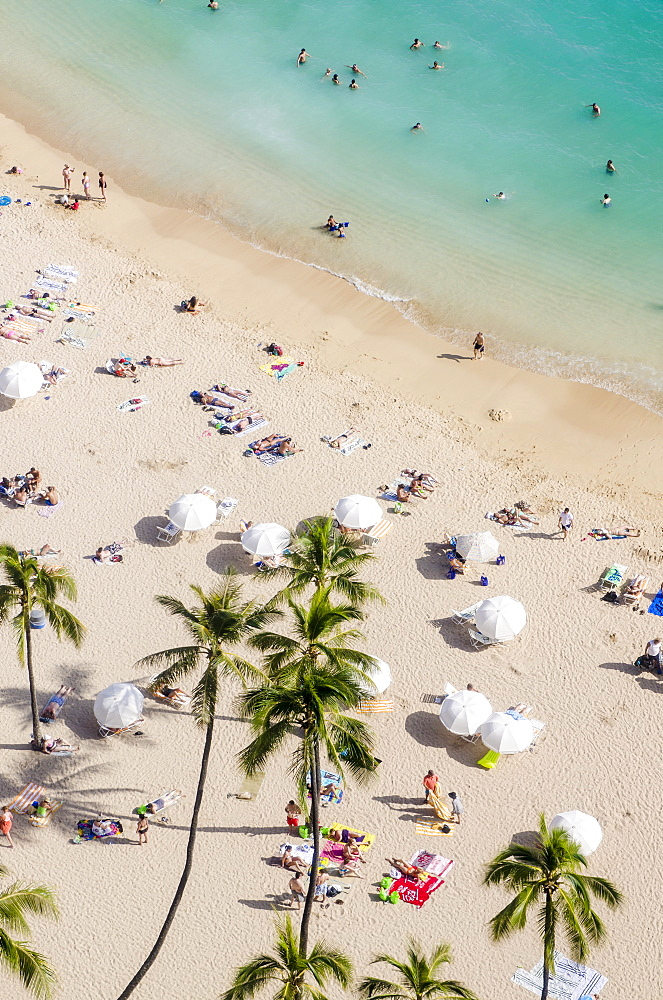Waikiki Beach, Waikiki, Honolulu, Oahu, Hawaii, United States of America, Pacific