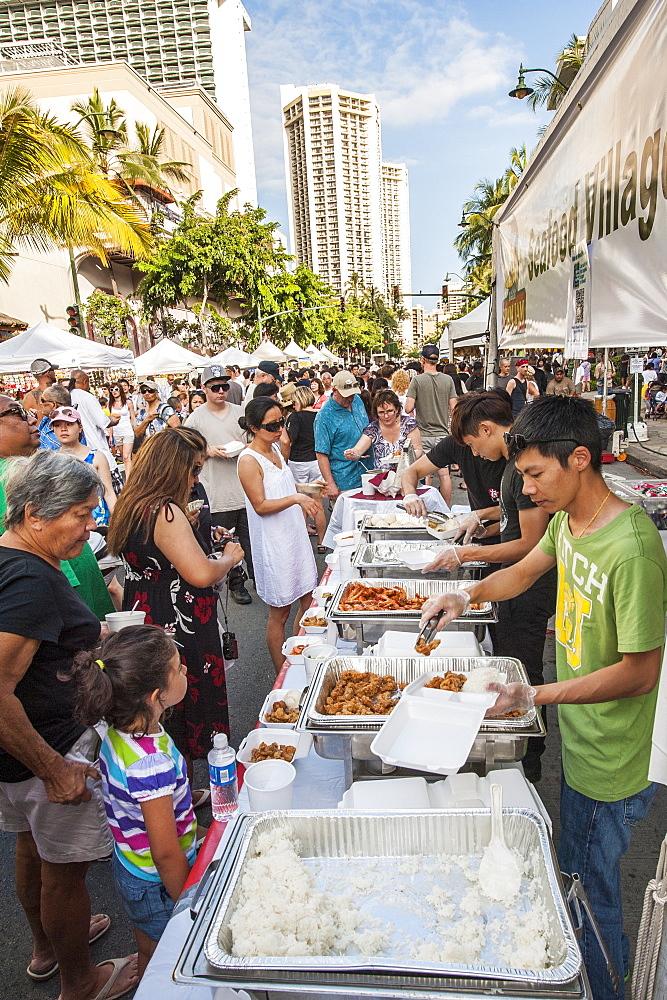 Annual Spam Jam Festival, Waikiki, Honolulu, Oahu, Hawaii.