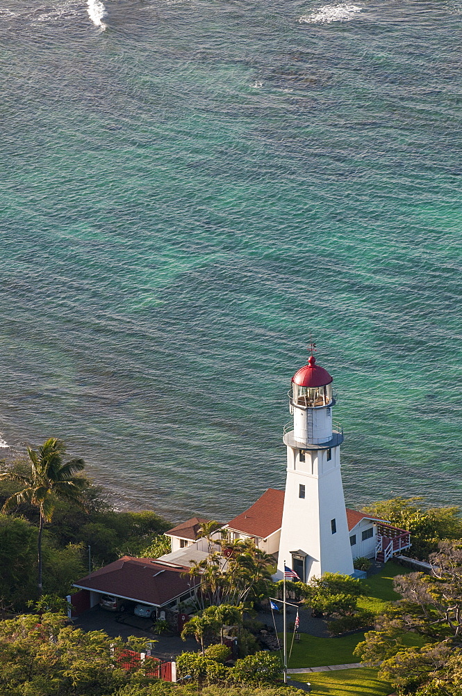 Diamond Head Lighthouse, Honolulu, Oahu, Hawaii, United States of America, Pacific