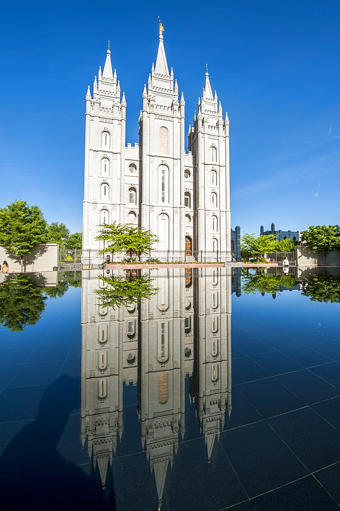 Salt Lake Temple, Temple Square, Salt Lake City, Utah, United States of America, North America