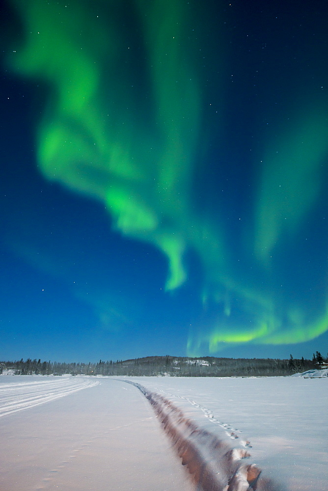 Aurora Borealis (Northern Lights), Yellowknife, Northwest Territories, Canada, North America - 796-2353