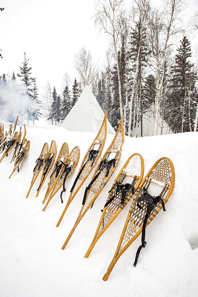 Snowshoes, Yellowknife, Northwest Territories, Canada, North America - 796-2354