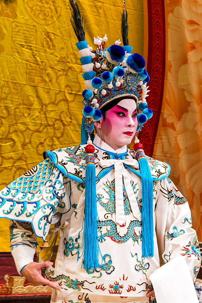 Chinese Opera performer, Ko Shan Theatre, Kowloon, Hong Kong, China, Asia - 796-2407