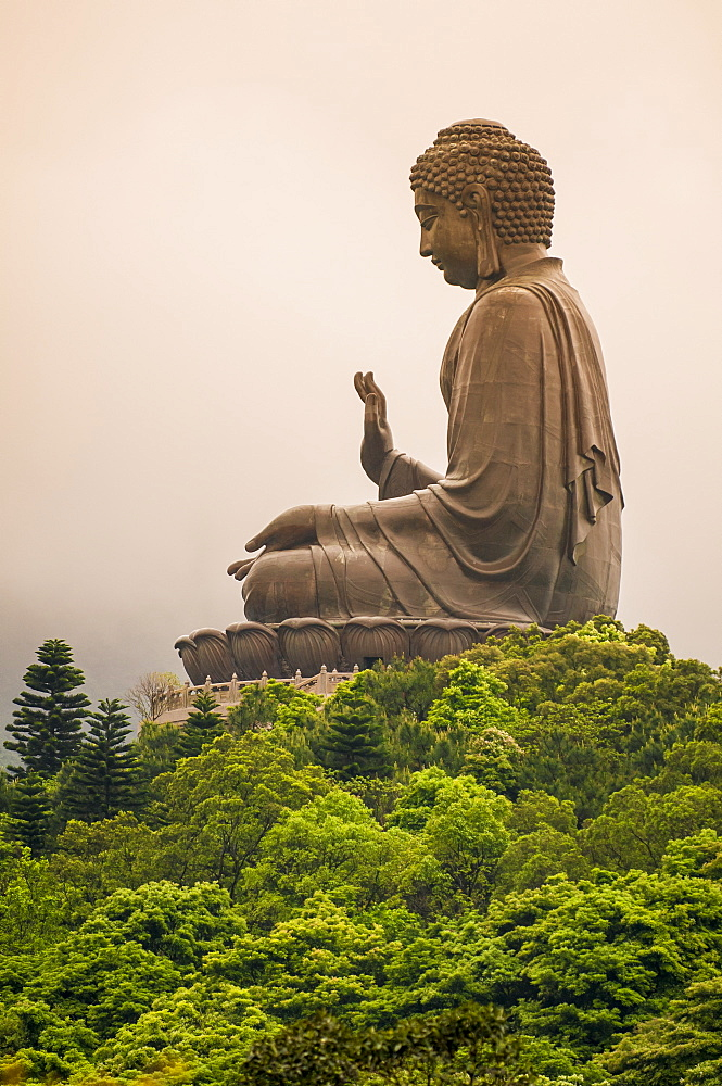 Tian Tan (Alter of heaven) The Big Buddha and Po Lin Monastery, Lantau Island, Hong Kong, China. - 796-2419