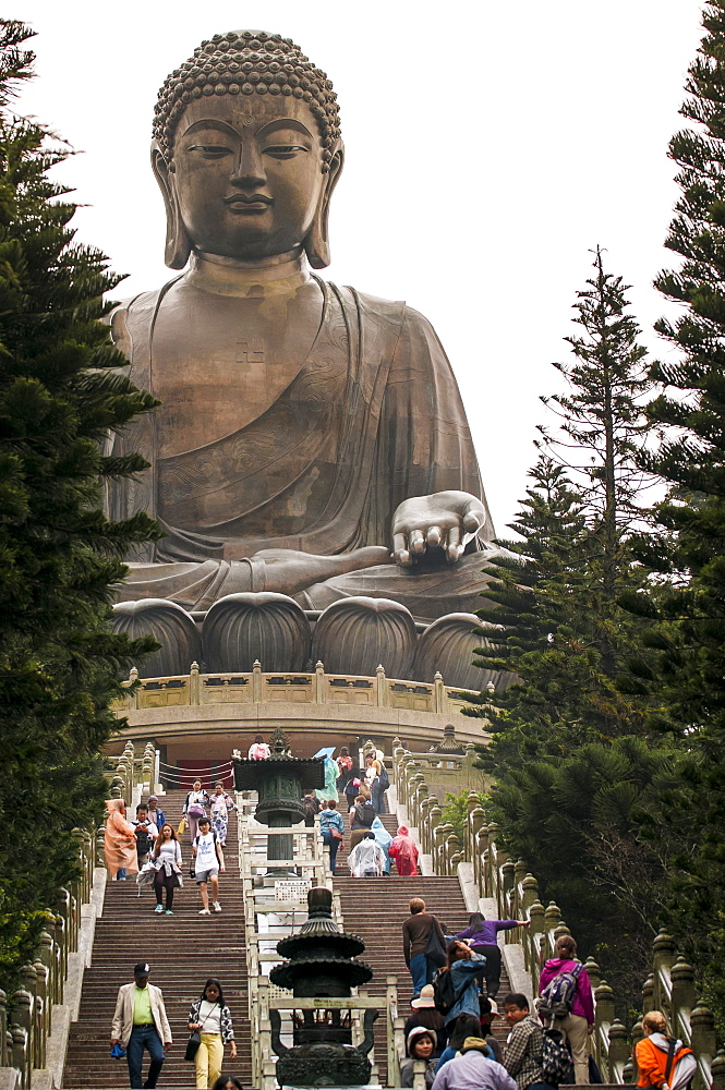Tian Tan (Altar of Heaven), The Big Buddha and Po Lin Monastery, Lantau Island, Hong Kong, China, Asia