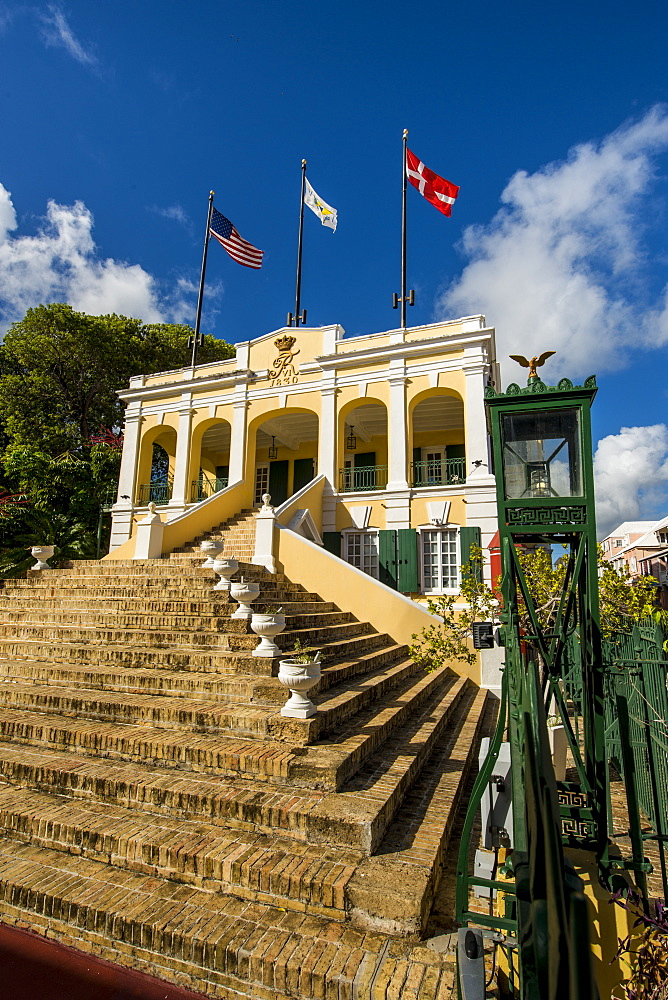 Historic Government House, Christiansted, St. Croix, US Virgin Islands, Caribbean - 796-2450