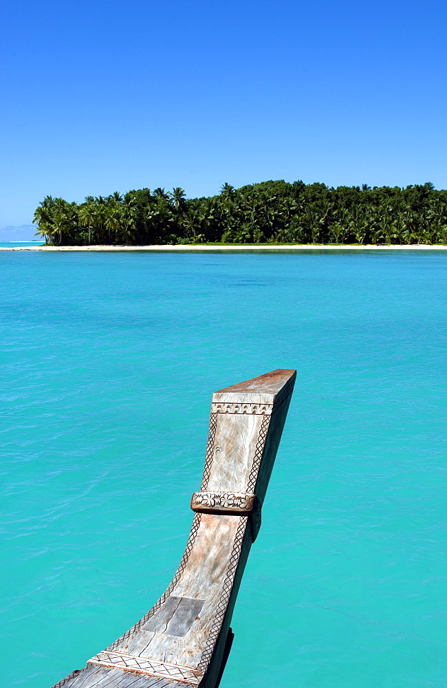 Palm fringed beaches, Cook Islands, South Pacific, Pacific