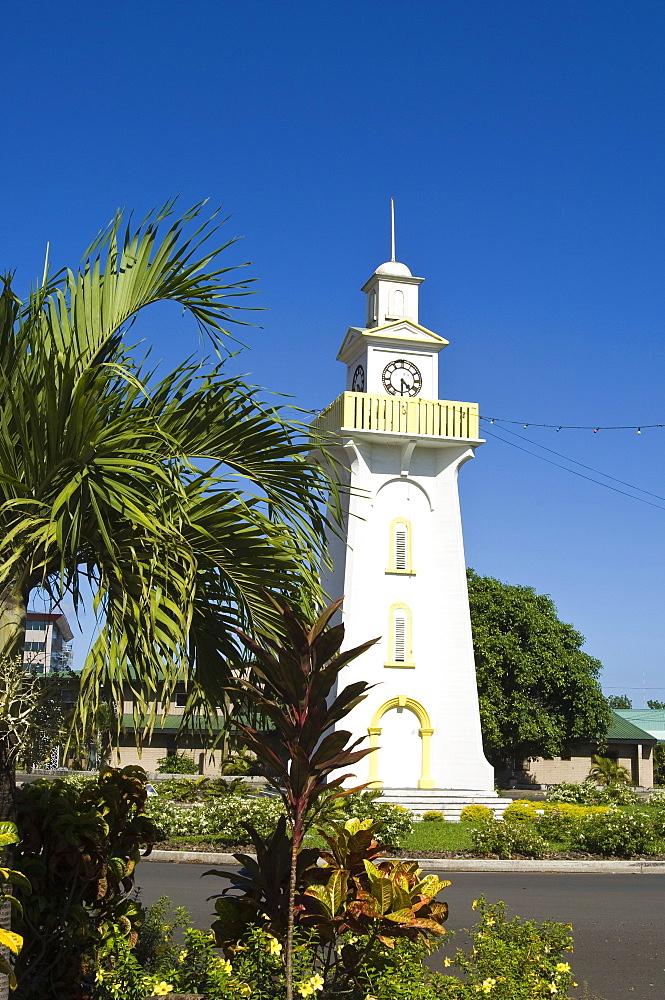 Town clock, Apia, Upolu Island, Western Samoa, South Pacific, Pacific