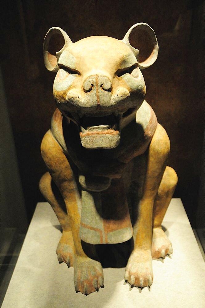 Mexico, Federal District, Mexico City, Museo Nacional de Antropologia Gran Jaguar 200 BC-200 AD.
