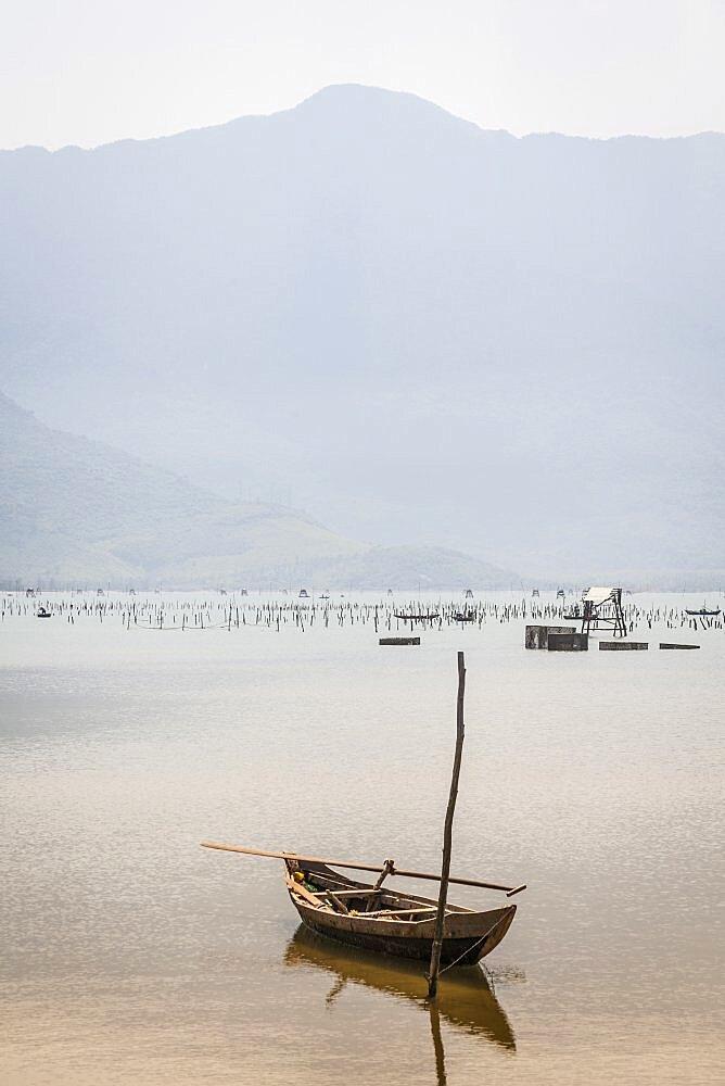 Vietnam, Hue, Lang Co, Tranquil lagoon near Danang.