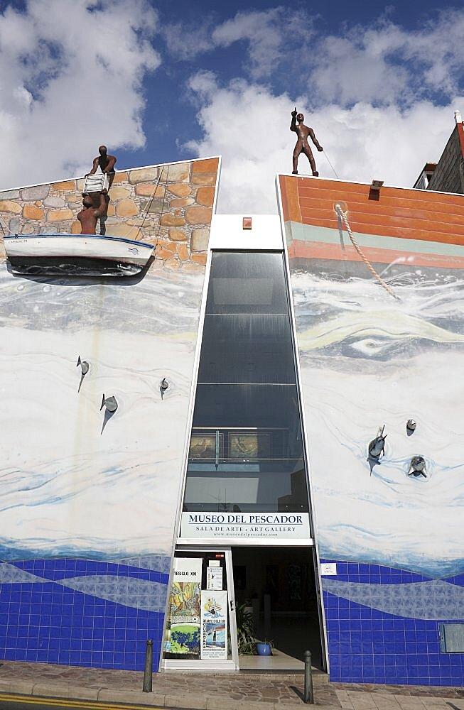 Spain, Canary Islands, Tenerife, Puerto Santiago Museo del Pescador modern art gallery.