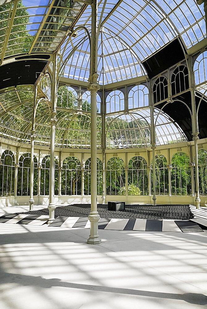 Spain, Madrid, Palacio de Cristal in Parque El Buen Retiro.