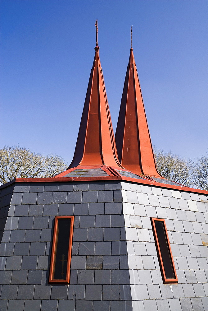 Ireland, County Kerry, Killarney, Modern Roman Catholic church at Fossa.